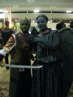 Silurian and Weeping Angel by Metal--Chocobo