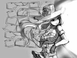 Caitlyn sketch by reyard
