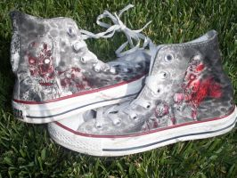Zombie Shoes by Harlequin-Ink
