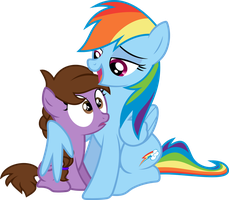 Rainbow and a Fan by VinylBecks