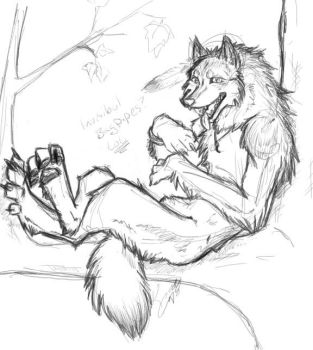 Sketchy for Spirit Wolf by RegentShaw
