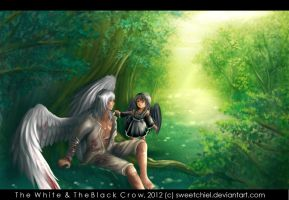 The White and The Black Crow by SweetChiel
