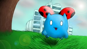 Catbug! (Wallpaper/Background) by BlacklightTheBrony