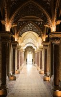 Corridor in Monserate Palace, Sintra, Portugal by Tigles1Artistry