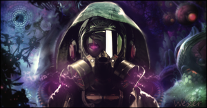 Gas Mask Girl by Wexxer
