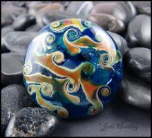 Titan - Glass Lampwork Cabochon by andromeda