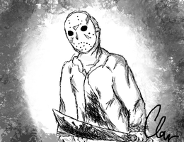 Jason Voorhees (For someone byotiful) by InvaderCLAW674