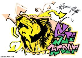 Yellow Wolf ft. SieWolf Graff. by Lorfis-Aniu