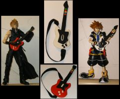Cloud VS Sora- Guitar Hero by SuperTako