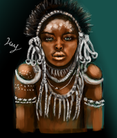 Tribal Woman by IceMaidenDesigns