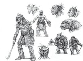 On the Shoulders of Heroes- Orcs by eoghankerrigan