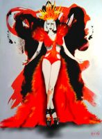 Lady GaGa's hot red dress by the-other-kevin
