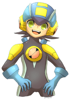 megaman nt warrior by onisuu