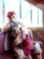 Natsu and Lisanna by ionditol