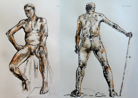Life Drawing Class - 1 Hour and Colour by Alerane