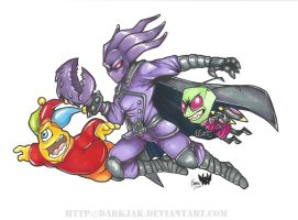 Commish - Cyjester, Glyph and Zim by ZombiDJ