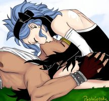 Smoochies - Gajeel x Levy by PastrieCake