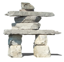 Rock Inukshuk PNG by Walking-Tall