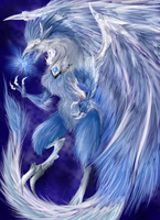 Azure Feather Dragon-Final Design by Katafrostic