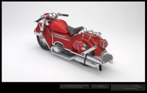Motorcycle 3D Model -Beauty Render 3 ALT View by LBG44