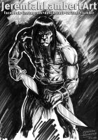 Conan - sketch - The Art Jams by JeremiahLambertArt