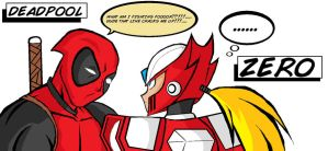 Deadpool Vs Zero by xXAkumaShadowXx