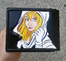 Spidergwen leather wallet by mooglestiltzkin
