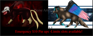 Emergency $10 Pin Ups for Sale - Limited Slots Ava by Business-of-Misery