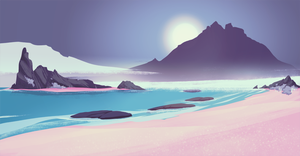 Purple beach 108 by JillLenaD