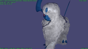Absol with Fur in Cycles by TheModerator