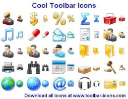 Cool Toolbar Icons by Ikont