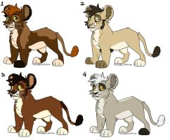 Lion Cub Adopts - CLOSED by MikacesAdopts