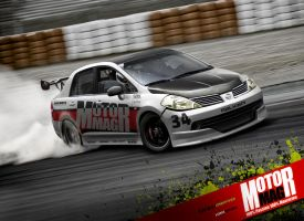 Nissan Tiida Sedan_drift by yasiddesign