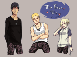 SnK: The Titan Trio by YukiHyo