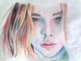 ChloeGraceMoretz by colored pencil by fantafiction