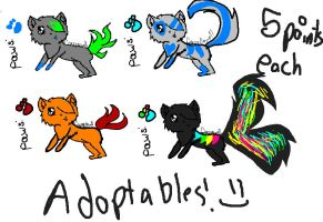 adoptables!!! :D by Crazynowell