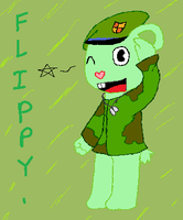 HTF: Flippy by CrazytheLion