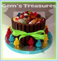 Tangfastic Sweet Barrel Cake with Edible Lego! by gertygetsgangster