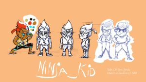 Concept Art: NinjaKid by Tale-Of-Two-Birds