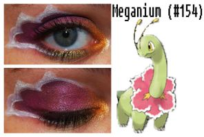 Pokemakeup 154 Meganium by nazzara