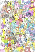 Lots of Pokemon on an A4 Page by MineralRabbit