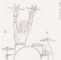 Drummer Sketch by Dank-Monkey