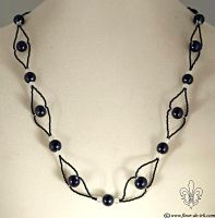 Essential black necklace N1289 by Fleur-de-Irk