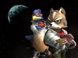 SSBB - Fox and Falco by Zakca