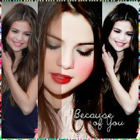 #-.Because Of You! PSD by MidnightMemoriesBaby