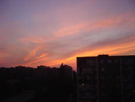 Sunset clouds by Eliv