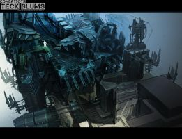 Techa Slum Environment level concept by alexdrummo
