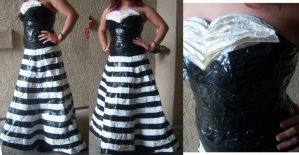 Duct Tape Dress by Justin-Boeser