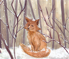 Fox in the snow by Shinjuuki