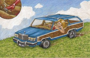 Commission - Station Wagon by ClockworkAardvark